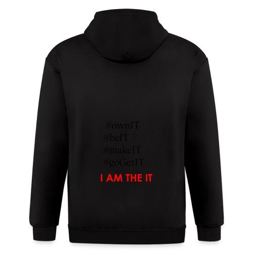 Own_It_-_Letters_Only - Men's Zip Hoodie