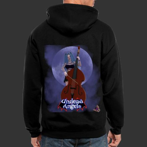 Undead Angels: Vampire Bassist Ashley Full Moon - Men's Zip Hoodie