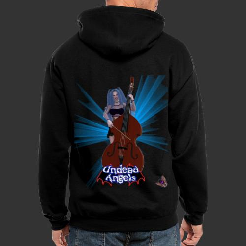 Undead Angels: Vampire Bassist Ashley Spotlight - Men's Zip Hoodie
