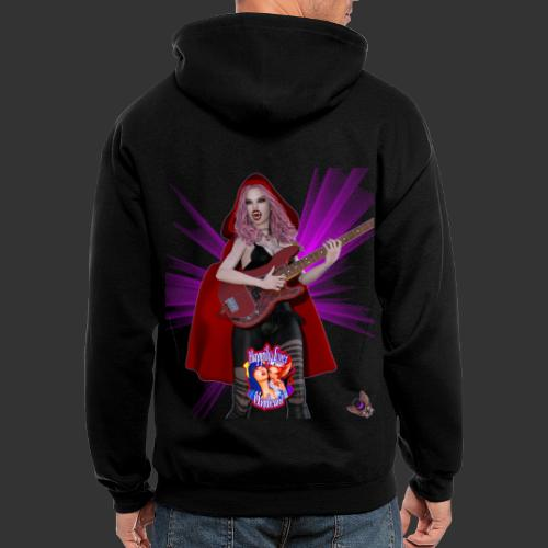 Happily Ever Undead: Blood Red Hood Bassist - Men's Zip Hoodie