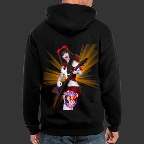 Happily Ever Undead: Crimson Snow Guitarist - Men's Zip Hoodie
