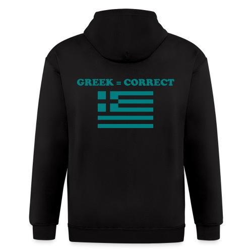 greekcorrect - Men's Zip Hoodie