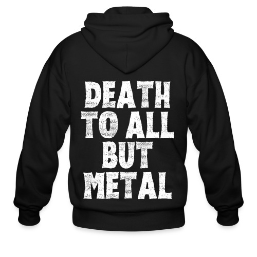 DEATH TO ALL BUT METAL - Men's Zip Hoodie