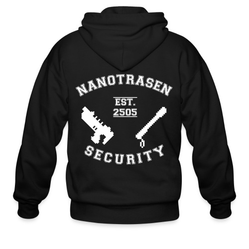 Security Varsity SVG - Men's Zip Hoodie