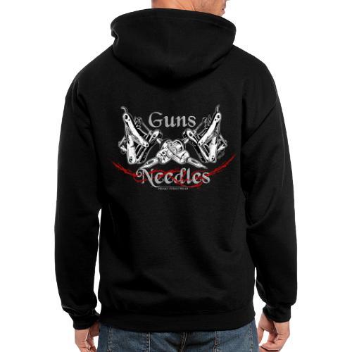 Guns & Needles - Men's Zip Hoodie
