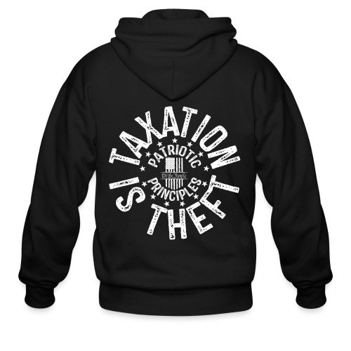 OTHER COLORS AVAILABLE TAXATION IS THEFT WHITE - Men's Zip Hoodie