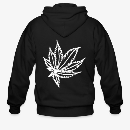 white leaf - Men's Zip Hoodie