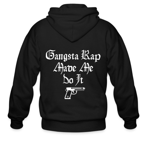 Gangsta Rap Made Me Do It - Men's Zip Hoodie