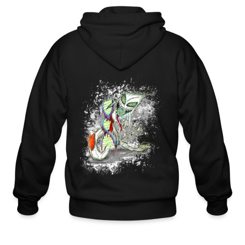 humanity is genocide - Men's Zip Hoodie