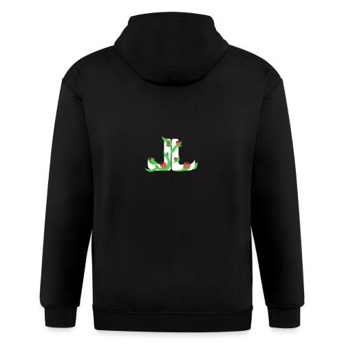 LegitLovely White Logo - Men's Zip Hoodie