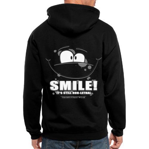Smile - it's still non-lethal - Men's Zip Hoodie