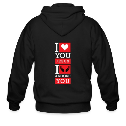 I Love You Jesus - Men's Zip Hoodie