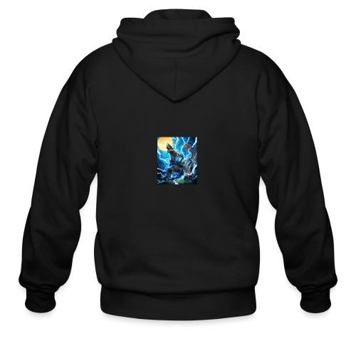 Blue lighting dragom - Men's Zip Hoodie