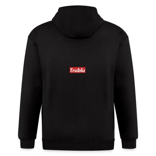 Trublu red box logo.(small) - Men's Zip Hoodie