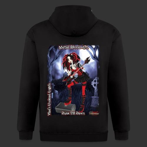 Cyber Vampire Guitarist Full Background - Men's Zip Hoodie