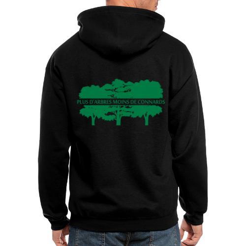 Plus d'arbres Moins de Connards - Men's Zip Hoodie
