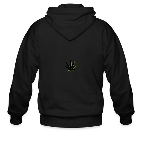 weed symbol drawing leaf - Men's Zip Hoodie