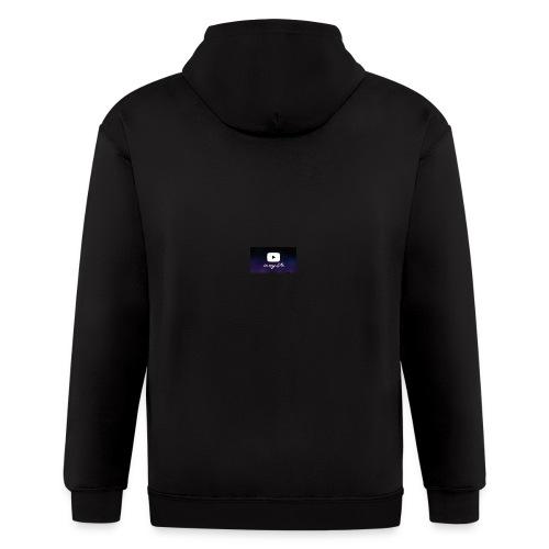 my life is youtube poster - Men's Zip Hoodie