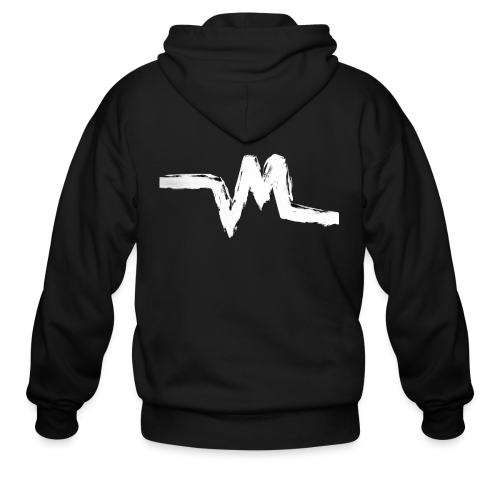 Original Vertical Minds Logo - Men's Zip Hoodie