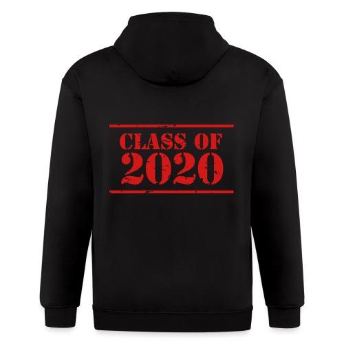 Class of 2020 stencil - Men's Zip Hoodie