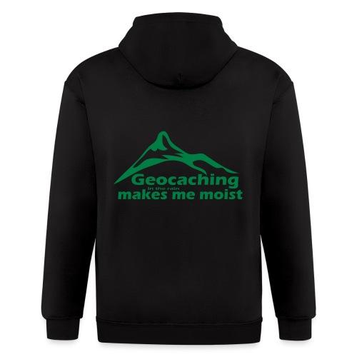 Geocaching in the Rain - Men's Zip Hoodie