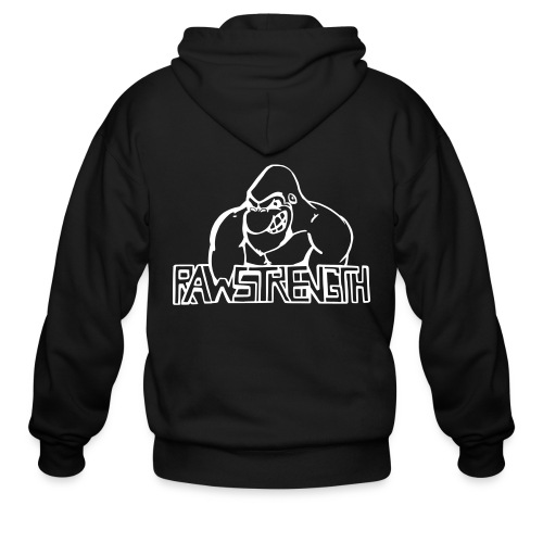 Raw Strength Logo - Men's Zip Hoodie