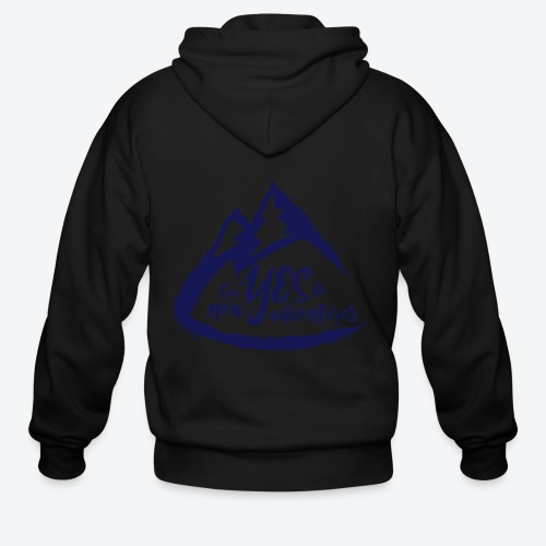 Say Yes to Adventure - Dark - Men's Zip Hoodie