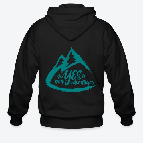 Say Yes to Adventure - Coloured - Men's Zip Hoodie