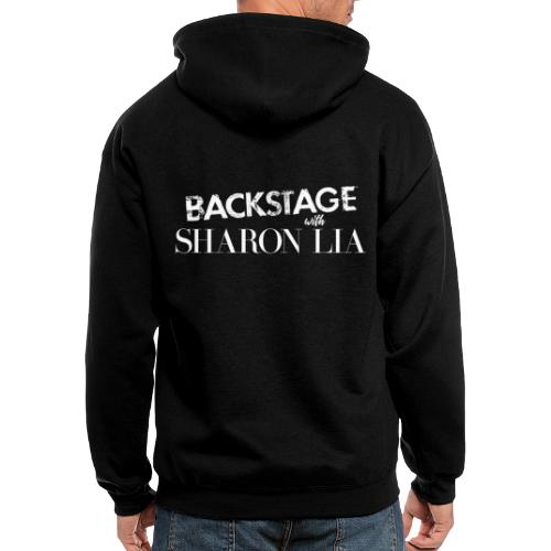 Backstage With Sharon Lia - White - Men's Zip Hoodie