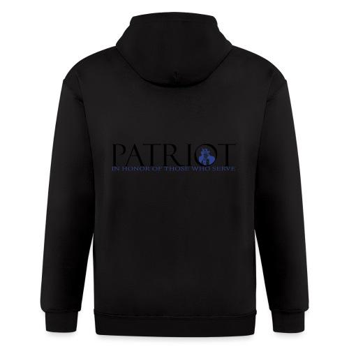 PATRIOT_SAM_USA_LOGO - Men's Zip Hoodie