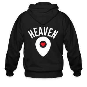 Heaven Is Right Here - Men's Zip Hoodie