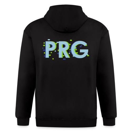 PRG distorted Neon libertarian Design - Men's Zip Hoodie