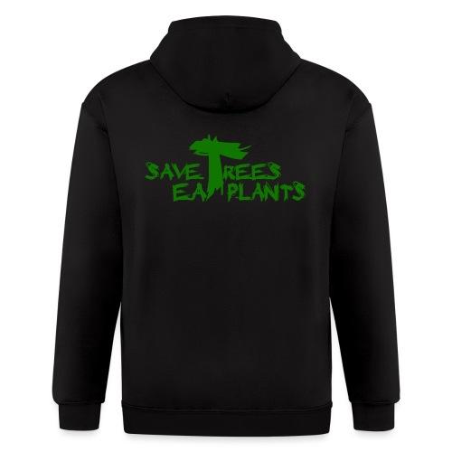Eat plants, green - Men's Zip Hoodie