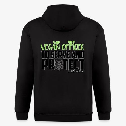vegan officer - Men's Zip Hoodie