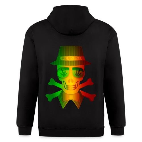 Rasta Man Rebel - Men's Zip Hoodie