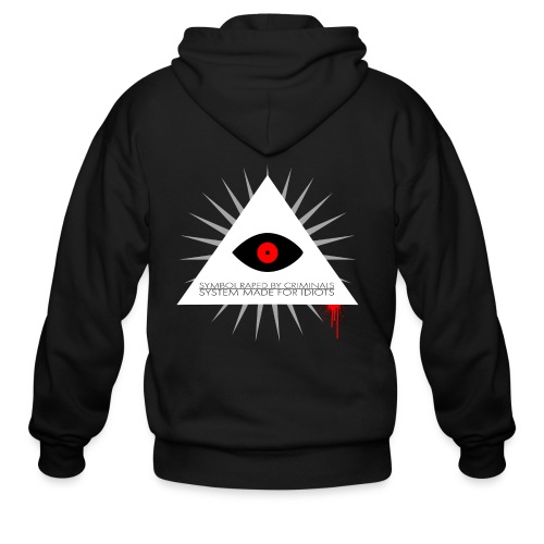 Symbol raped by criminals... System made for idiot - Men's Zip Hoodie