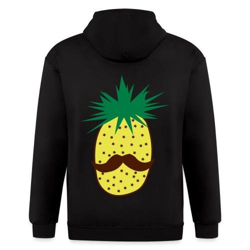 LUPI Pineapple - Men's Zip Hoodie