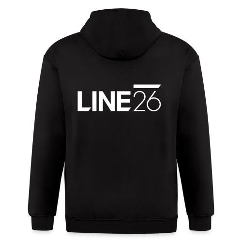 Line26 Logo (Light Version) - Men's Zip Hoodie