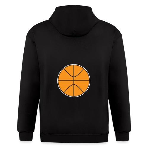 Plain basketball - Men's Zip Hoodie