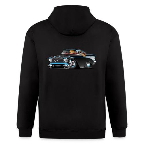 Classic hot rod fifties muscle car - Men's Zip Hoodie