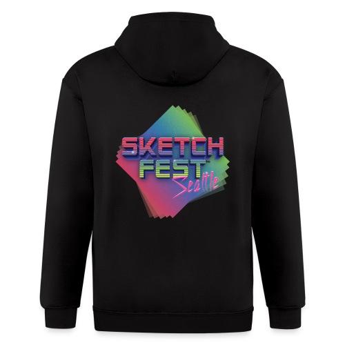 SketchFest2016 Tshirt 2500x2500 png - Men's Zip Hoodie