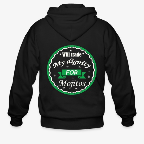 Trade dignity for mojitos - Men's Zip Hoodie