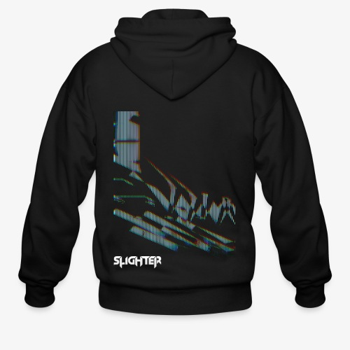 Vertical Glitch - Men's Zip Hoodie