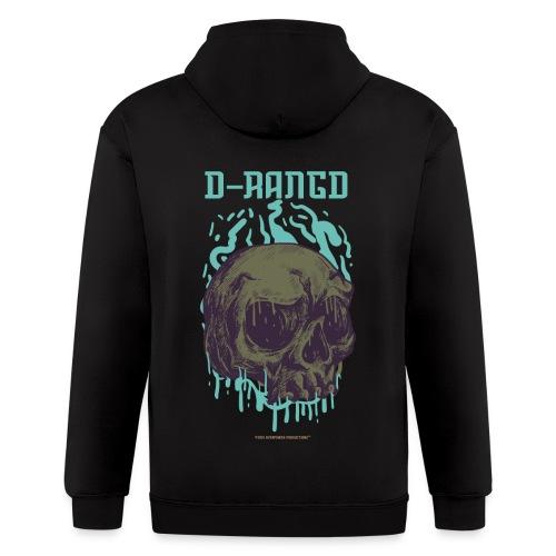 D-RaNGD Melting Skull Logo - Men's Zip Hoodie