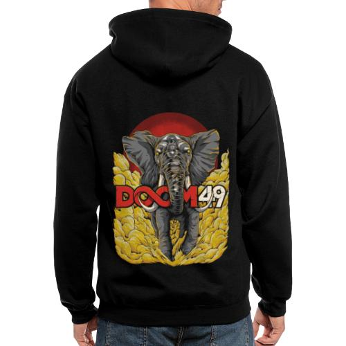 Yellow Smoke Elephant by DooM49 - Men's Zip Hoodie