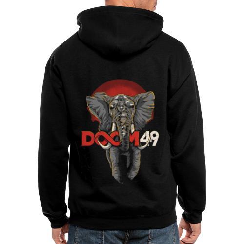 Clear Smoke Elephant by DooM49 - Men's Zip Hoodie