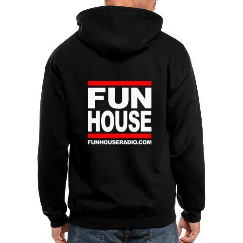 Fun House Radio Square Design - Men's Zip Hoodie