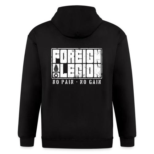 foreign-legion-bold-text - Men's Zip Hoodie
