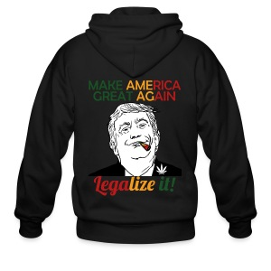 Smoke Cannabis and Maker America Great Again Trump - Men's Zip Hoodie