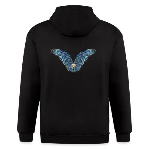 Wings Skull - Men's Zip Hoodie